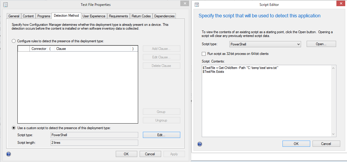 SCCM 2012 – Application detection with Powershell … and code