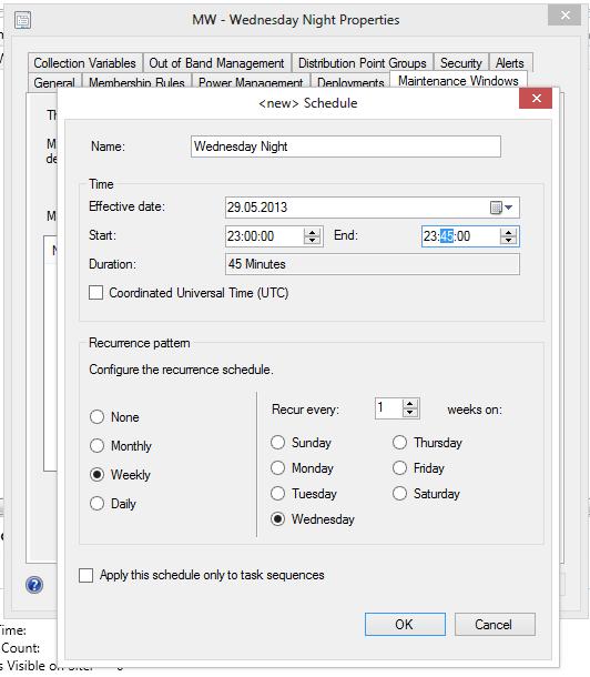 SCCM 2012 – Reboot after Installation in Maintenance Window