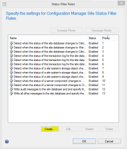 Create Status Filter Rule