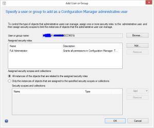 SCCM Server permission