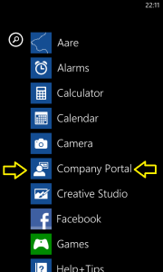 Windows Phone 8 Company App