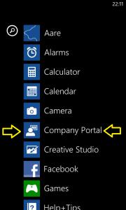 Windows Phone 8 Company App