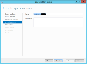 Sync Share Name