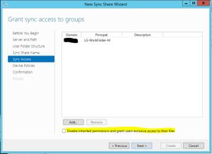 Work Folder permissions
