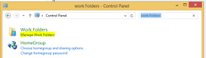 Work Folders on Windows 8.1