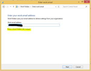 Work Folder URL