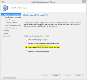 Create VHD Task sequence