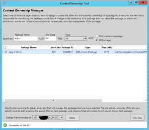 SCCM2012R2ContentOwnershipTool