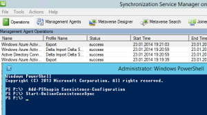 Start Azure Directory synchronization with powershell