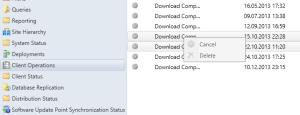 Client Operation Delete GUI