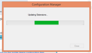 Install Extension progress