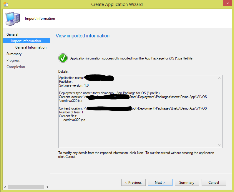 SCCM 2012 R2 MDM – Deploy an Apple ipa file to an iOS Device