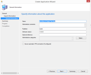 Configure Application