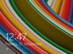 Windows 8.1 Normal Lock Screen