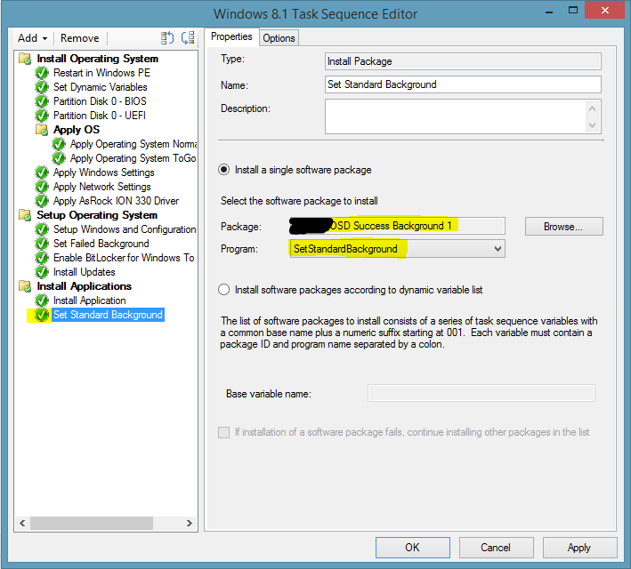 SCCM 2012 – Display special lock Screen when OSD was