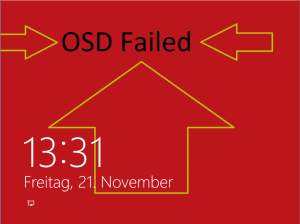 OSD Failed