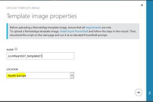 Azure RemoteApp Template Upload