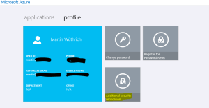 Azure AD Profile
