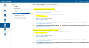 Intune - Set up conditional Access