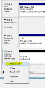 Intialize Disk