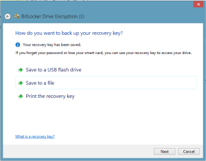 Save BitLocker Key