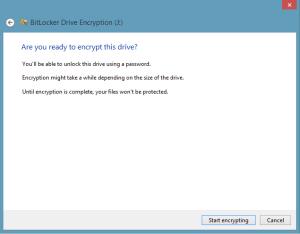 Start encryption