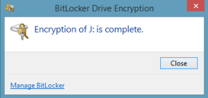 Encryption complete