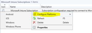 Configure Platforms