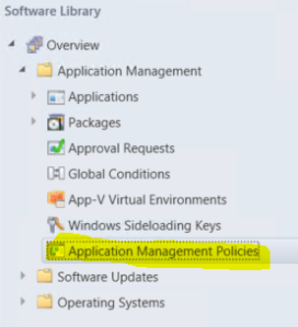 Application Management Policies