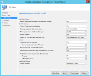 Application Management Policy