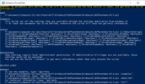 Script no Parameters