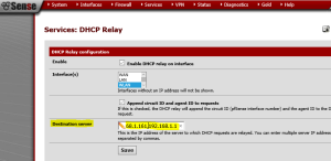ip helper dhcp relay