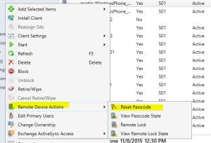 Reset Remote Passcode