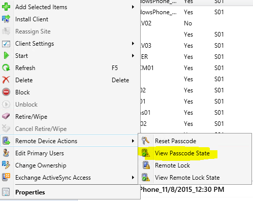 SCCM 2012 + Intune – Remote Passcode Reset on Windows Phone