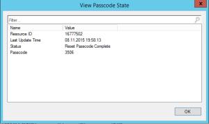 View Passcode State