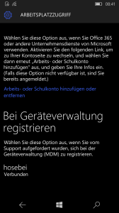 Windows 10 Mobile Intune enrollment