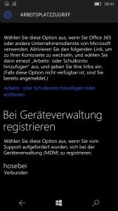 Windows 10 Mobile Intune enrollment