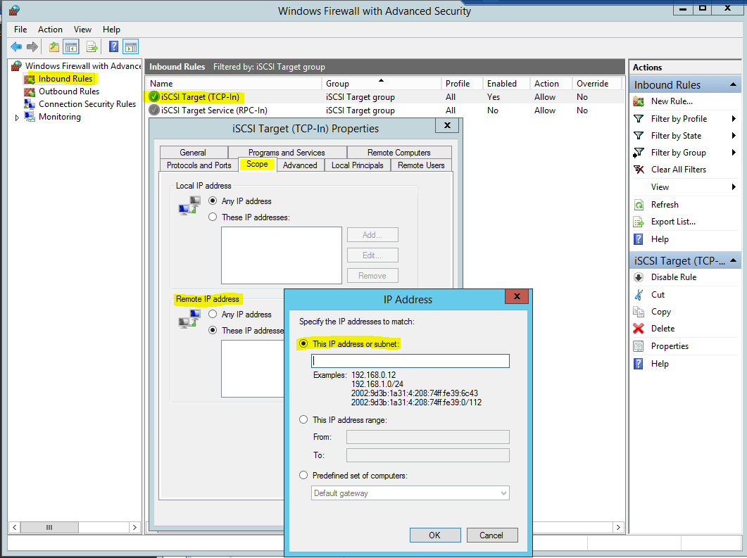 iSCSI over Internet with Server 2012 R2 and an Encrypted