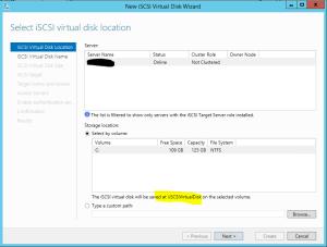 Create Virtual Disk