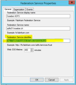 Fedration Service Identifier HTTP