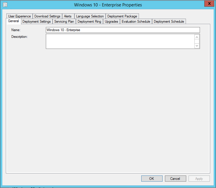 ConfigMgr 1602 – Windows 10 Servicing Plans create