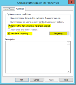 GPP common settings