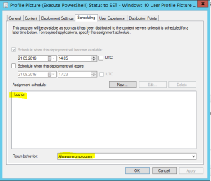 ConfigMgr Deployment Option