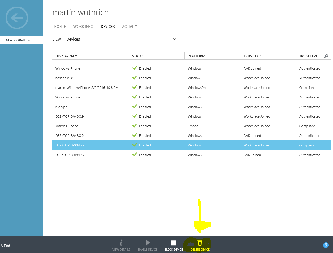 Azure AD – Remove Registered Device | blog hosebei ch