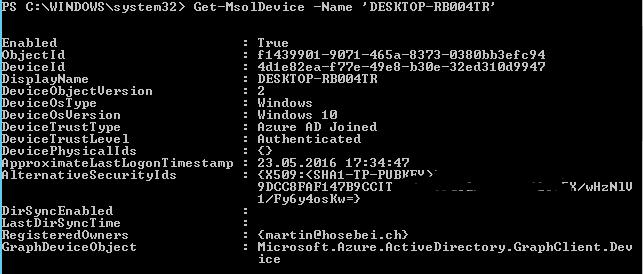 Azure AD – Remove Registered Device   blog hosebei ch