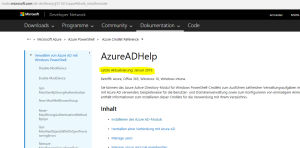 Azure AD Documentation Update