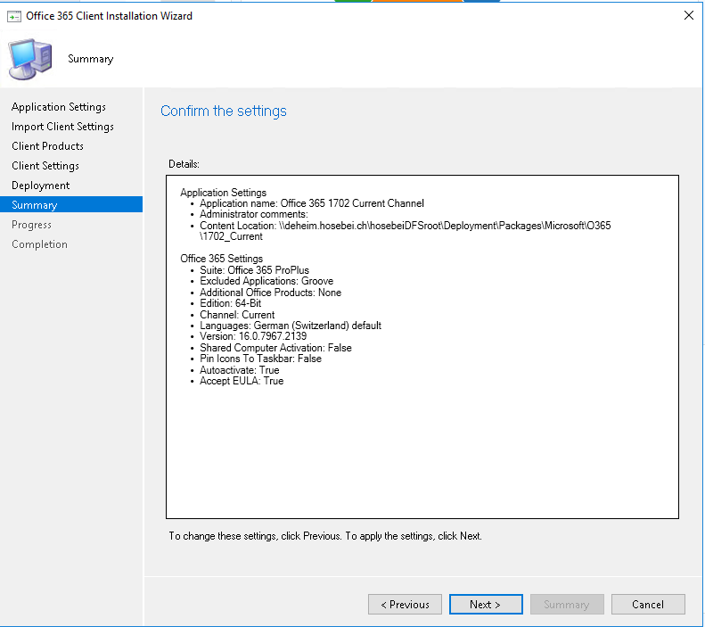 ConfigMgr – Create Office 365 Package through Console | blog hosebei ch