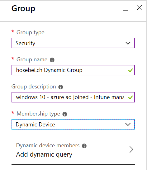 Azure AD – Create dynamic group containing all Windows 10