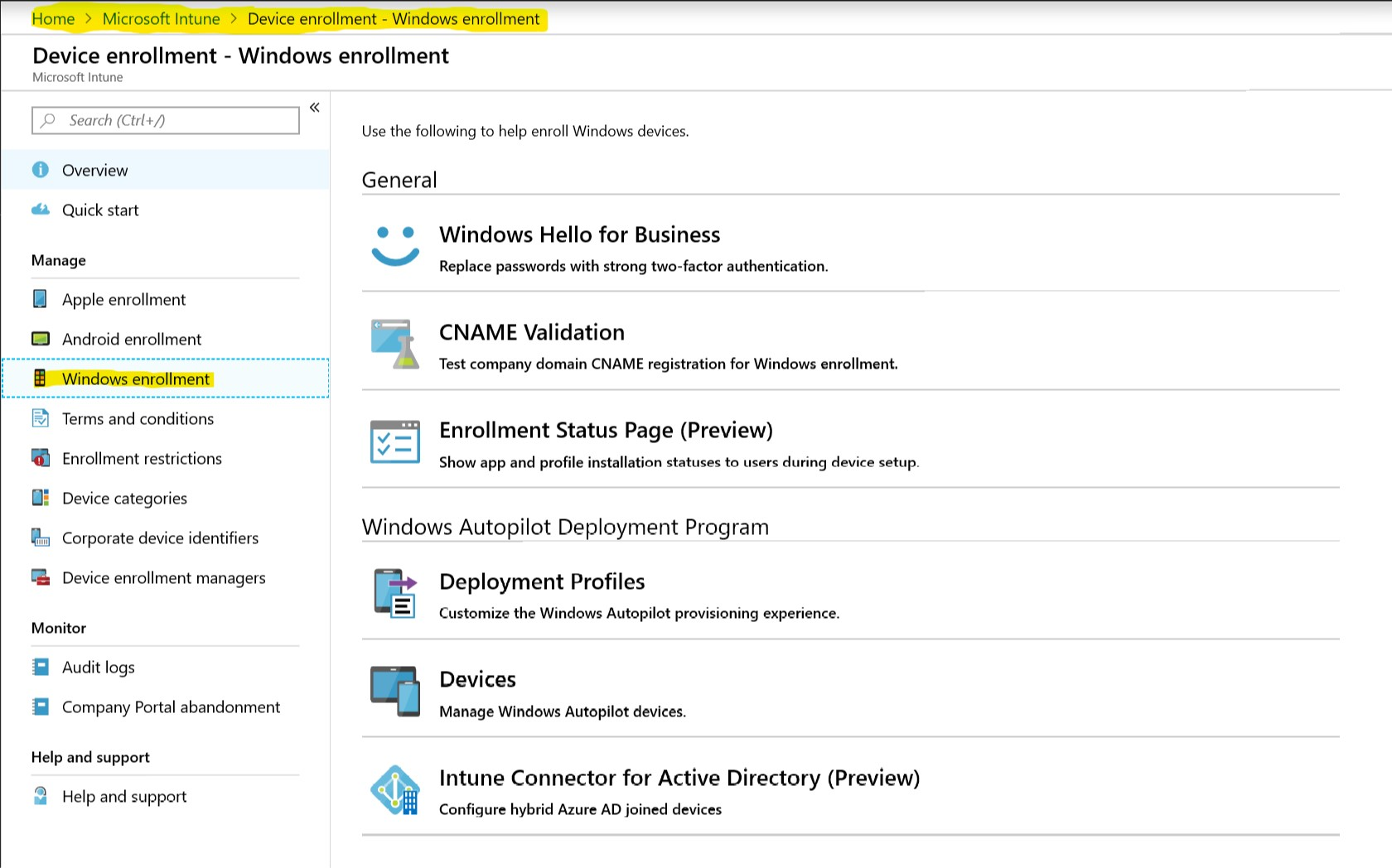 Windows 10 settings management with Intune | blog hosebei ch